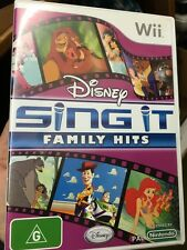 disney sing it family hits wii