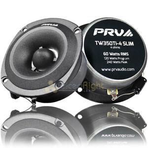 "2 PRV Pro 3.5"" Super Bullet Tweeters 120W Max 4 Ohm Slim Mount Pair TW350Ti-4"