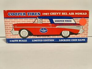 1957 Chevy Nomad Cooper Tires Collectable Bank 1/25 Scale Liberty Classics NIB