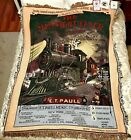The Rug Barn Midnight Flyer Tapestry Throw 1995 Vintage/Rare New with Tags