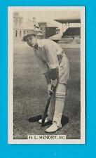WILLS 1929 CRICKET SEASON H.L.HENDRY (VICTORIA) CIGARETTE CARD