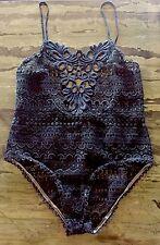 *ISABEL MARANT* Black Macrame Bodysuit Size 2-FR 38/40- US 6/8