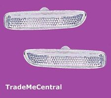 BMW E46 3 Series 1 White Smoke Clear Side Guard Indicators Lights Right Left