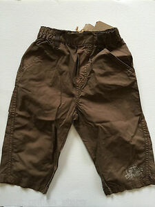 BNWT Timberland Baby 100% Pure Cotton Pants Size 12 Months 1 Year Brown