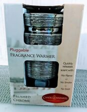 Ceramic Electric Wax Melt - Oil Warmer Diffuser - Brushed Chrome - Free US Ship!