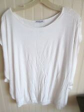 #  CHA CHA VENTE white FULL stretchy knit top  - SIZE M    NWT