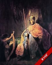 SAUL & KING DAVID PAINTING OLD TESTAMENT BIBLE HISTORY ART REAL CANVAS PRINT