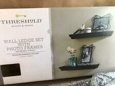 New 4 piece Threshold Wall Ledge Set With Photo Frames Espresso Finish