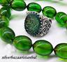 Turkish jewelry 925 silver İslamic green emerald stone Mens Man Ring us ALL SİZE