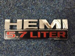 Dodge Ram 5.7 Liter Hemi Badge