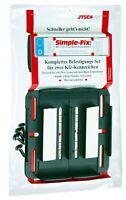 Zwei rahmenlose Kennzeichenhalter SIMPLE-FIX KFZ Nummernschildhalter 2 x Halter