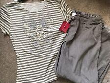 NEW Xhilaration Women's Sleepwear PJ Pajamas Set Size Large Gray