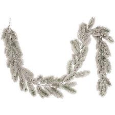 Luxe 1.6m fête de noël enneigés pine branch garland décoration