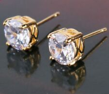 18K Yellow Gold Solitaire Stud Earrings                317