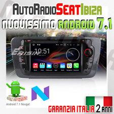 AUTORADIO ANDROID 7.1 DAB+ SEAT IBIZA 2009-2013 FR/Cupra COMANDI AL VOLANTE R...