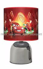 CARS NEON ☆ RED BEDSIDE TOUCH LAMP ☆ BOYS NIGHT LIGHT☆ MATCHES DUVET