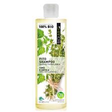 BioLab Q Fito Shampoo 100% Biologico Timo e Ortica per Capelli Grassi e Forfora