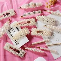 Fashion Women Girls Pearl Flower Hair Clip Matel Barrette Hairpin Hair Accessory