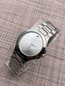 Swiss Movado Corporate Exclusive,Silver Dial,S.S Men's Model# 0606165 Retail$895