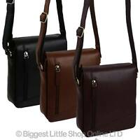 NEW Ladies Mens Leather Cross Body/Shoulder Bag by Visconti; Merlin Travel