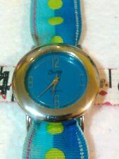 Women's Swap Slider Wrist Watch-New Battery-Fabric Dot Watch Band