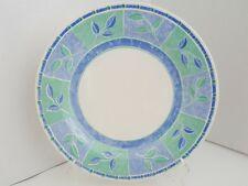 """CHURCHILL JAVA 10 1/4 """" DINNER PLATE Pastel Blue Green Leaves"""