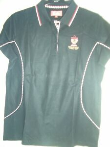 Ladies Golf Polo shirt,omega world cup mission hills SIZE L 10 New. black