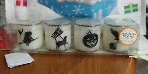 Pottery Barn Kids Halloween Votive Flameless Battery Candles, Set of 4 - VGUC