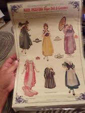 1984 Old Fashioned Embossed Cut-out Mary Pickford Paper Doll