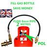 UK Bayonet LPG Filling Point to Calor Gas Propane Bottle 2 Meters FLEXI pipe POL