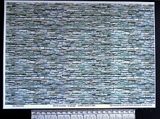 O gauge (1:48 scale) stone courses self adhesive vinyl - A4 sheet