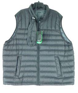 NWT Solaris Big & Tall Down Packable Puffer Vest Black 3XB NEW $125