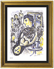 """Marc Chagall """"Happiness"""" Signed & Hand-Numbered Ltd Ed Litho Print (unframed)"""