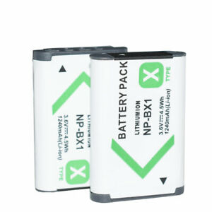 2X NP BX1 Camera Battery pack for SONY DSC RX1 RX100 M3 M2 RX1R WX300 HX30 RX100