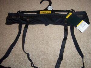 Ex Wonderbra Black Sexy Satin Feel With Bronze Sparkle Detail Suspender Belt