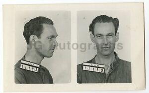 Early 20th Century Mug Shots - J.S. Thomas/Escaped Convict - 1954
