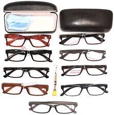READING EYE GLASSES CLEARANCE Lot 2 Pack Men, Cases, Repair Kit, Gentlemen +3.50