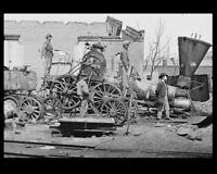 1865 Wrecked Confederate Train PHOTO Richmond CSA Capital Ruins Rebel Civil War