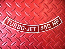 CHEVROLET 454 TURBO JET 450 HORSEPOWER LICENSED REPRODUCTION AIR CLEANER DECAL