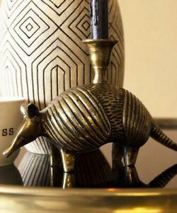 Rockett St George Brass Armadillo Candle Holder, Brand New