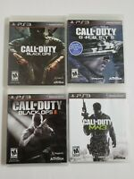 PlayStation PS3 Call of Duty Series Games Black Ops I & II Ghosts MW3 (lot of 4)