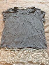Rewind Women's Shirt Too Grey W/ Bottom Lace Size Small Xs