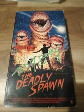 The Deadly Spawn Vhs (Autographed By Actor Ted A.Bohus )