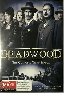 Deadwood: Season 3 (DVD, 4 Discs)  Region 4  - Very Good Condition