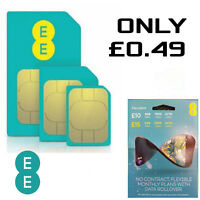 EE 4G Flex Pack Pay As You Go SIM card PAYG Nano/Micro/Standard Triple Cut New