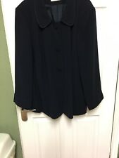 Ann Harvey Navy Blue  Swing Jacket Wedding Guest Mother of the Bride Size 24