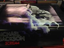 MICHAEL JACKSON SCREAM * OFFICIAL PROMO POSTER PROMOZIONALE  CM 70 X70
