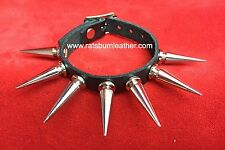 Single strap Large Spiked Spike Studded bracelet wristband wrist cuff band Steam