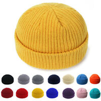 Fashion Man Women Winter Hat knitting Knitted Wool Melon Beanies Solid Color Cap