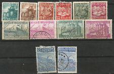 Belgium Belgica Scott # 374/385 (o) COB 761/772 MH Serie Completa Industrias